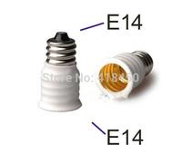 5pcs/Lot E14 Male to Female White LED Halogen Bulb Base Converter Adapter Light Socket Changer Lamp Holder Extender