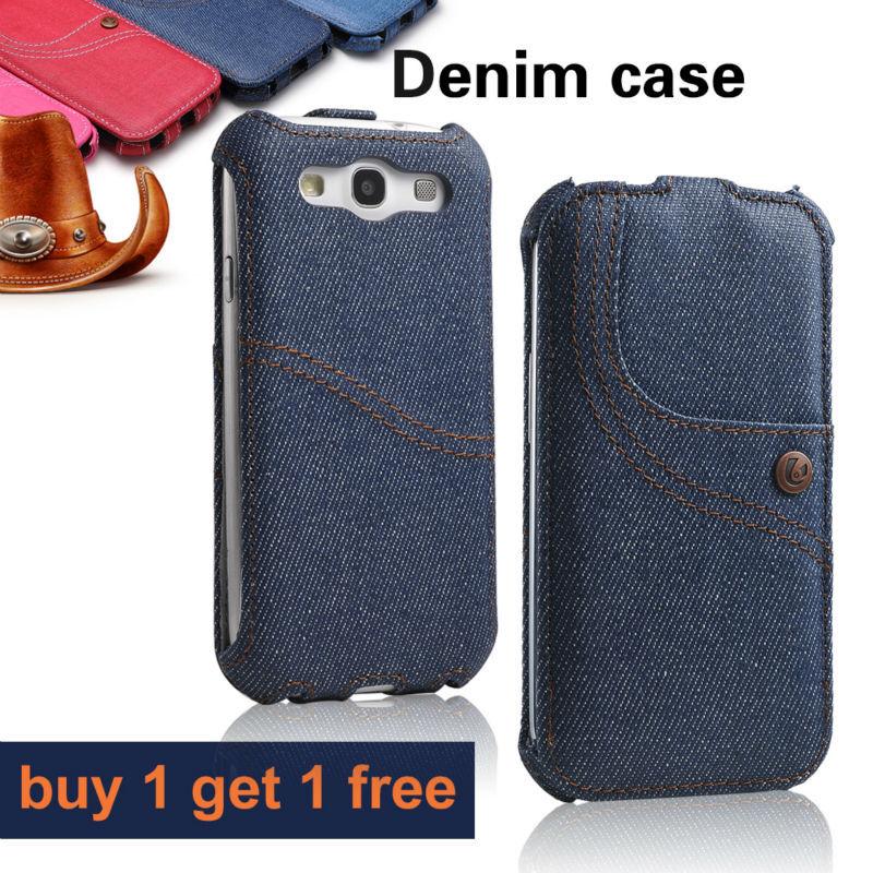 Купить 1 получить 1 бесплатная! Флип джинс чехол для samsung galaxy S3 чехол i9300 SIII оригинал жан уникальный винтаж дизайн