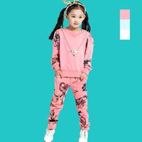 Hot selling good quanlity news Children's clothing 2014 autumn child set female child sweatshirt twinset baby autumn clothes