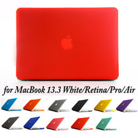 20pcs/lot, Full Body Cover Case Protector Matting Surface for MacBook Retina/Pro/Air/13.3 White (LJ-MB-7)