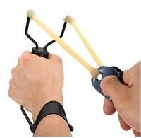 5x Powerful Folding Wrist Sling Shot Slingshot Brace Bait Throwing Hunting Catapult