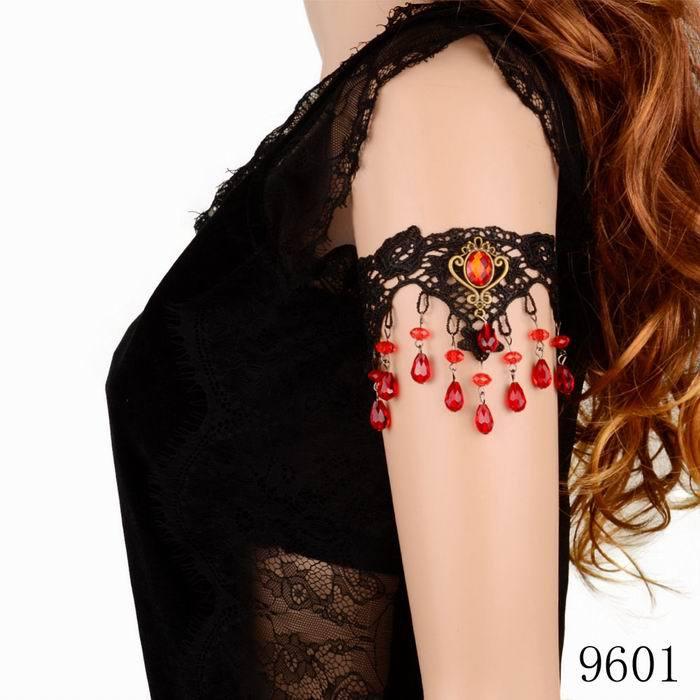Minimum order $10 Europe and USA popular 2015 fashionable design vintage style resin pendant lace arm bracelet(China (Mainland))