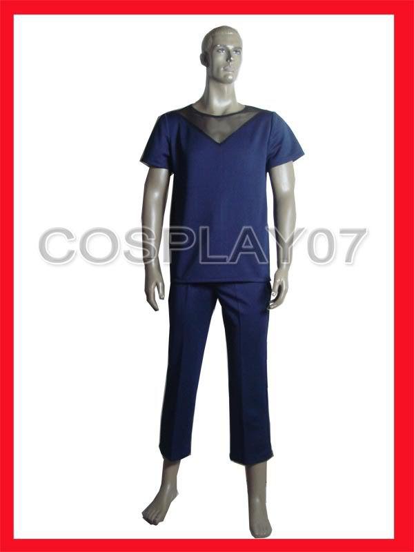 Naruto Akatsuki fishnet shirt and pants cosplay costume custom made(China (Mainland))