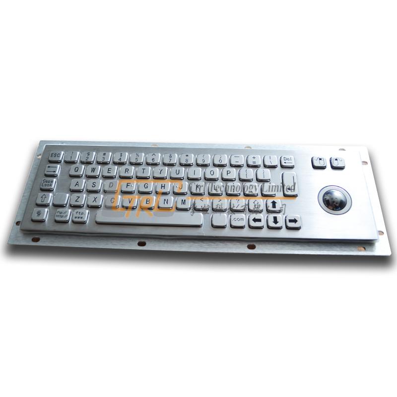 Stainless steel keyboard with trackball, kiosk trackball keyboard, industrial waterproof keyboard, custom kiosk keyboard(China (Mainland))