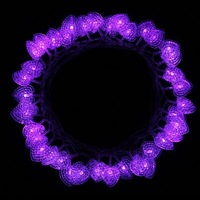 4M 40 LED Purple Heart String Lights Battery Operated for Christmas, Party, Wedding, New Year Decoration