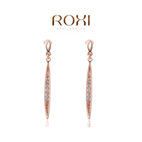 2014 New Women Earrings for Women Brinco Brincos Gift Genuine Austrian  crystals Fashion Red/  Earrings Hot Sale for Party