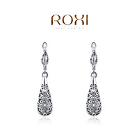2014 new fashion romantic white gold plated luxury original design drop cute women earrings  jewelry genuine freeshipping