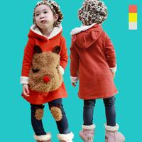 Children's clothing female child autumn 2014 child set fleece sweatshirt baby clothes