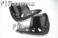 PAZOMA Black DIRTBIKE MX ATV HAND GUARDS Heighten handguard with Shield White LED