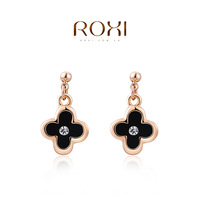 2014 new top fashion ROXI Romantic flower luxury Crystal dangle earrings for women hand made Tin Alloy freeshipping