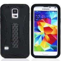 Cheap Price Dual Color Hybrid Silicone+PC Robot Stand Cover Case For Samsung Galaxy S5 I9600
