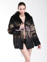 BG30426 Luxury Genuine Mongolia Otter Fur Coats Jacket For Women Fur Coat With Hood Real Fur Coat Plus Size XXXL