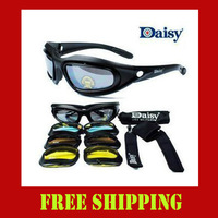 Daisy C5 D5 outdoor sports bike sunglasses Cycling Eyewear 4 colors tactics goggles lens riding glasses 6 sets/lot wholesale