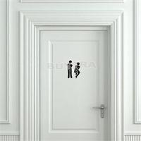2014 New Designer Toilet Door Sticker Bathroom Door Decoration Funny Wall Stricker