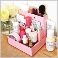 DIY Paper Board Storage Box Desk Decor Stationery Makeup Cosmetic Organizer