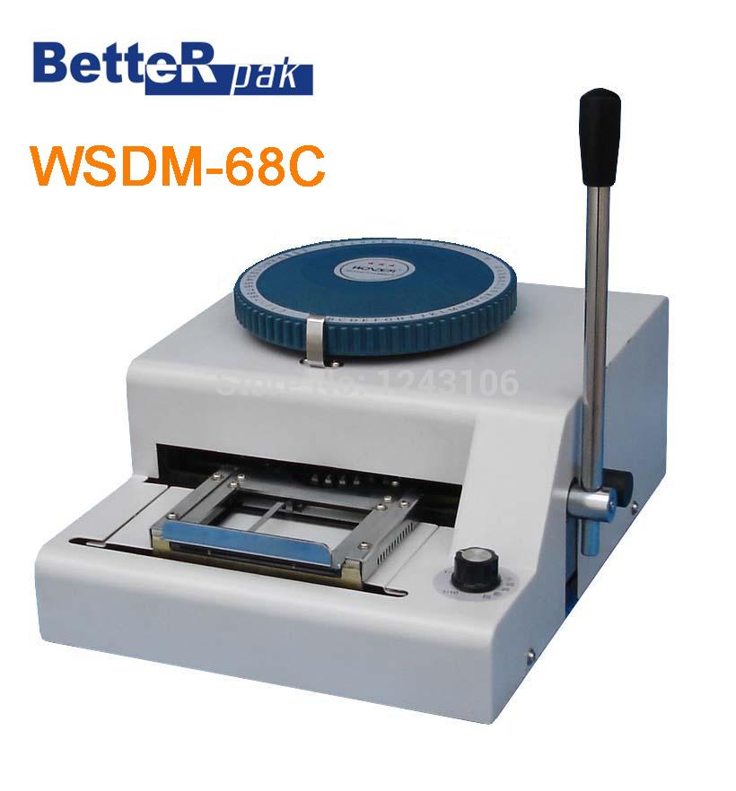 WSDM 68C Manual Code Printer PVC card embossing machine letterpress rotogravure printing machine name card code