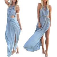 2015 Sexy Women's Chiffon Summer Boho Long Maxi Evening Party Summer Beach Dress
