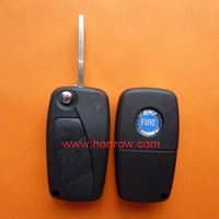 Free shipping -Plastic shell for Fiat 2 button flip remtoe key blank (Black Color)& Key Shell /car key case