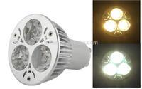 Led Spotlight 3W LED lamp ceiling light spotlights GU10 Warm Natural White 6 PCS/LOT Free Shipping