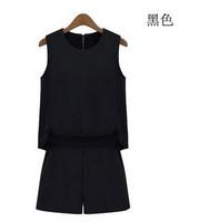 free shipping ! female chiffon rompers Women's fashion regular jumpsuits ladies' big size summer clothing