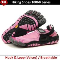 Five 5 Fingers Women Toe Hiking Shoes Velcro Outdoor Climbing Shoe Sports Runner Jogger Athletic Shoes 1006B Series FreeShip