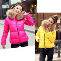 oversized fur collar thick fur collar cotton-padded jacket cotton padded jacket short paragraph Slim coat ezf 8020