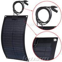 UK STOCK! 20W 12V Fiberglass Monocrystal Semi-flexible Solar Panel, Wholesale,Factory Directly