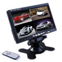 "Car Monitor Mirror KJ-726S New 7.0"" TFT LCD CCTV HD Car Rearview Backup Color Monitor Screen Reverse Camera free shipping"