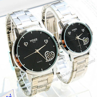 Free shipping Stainless steel lover's watch/quartz wristwatch F077