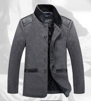 Men Jacket Plus Size Spring Autumn Winter Big Yards Long Business Casual Wool Woolen Collar Jackets Slim Jacket Men's Coat