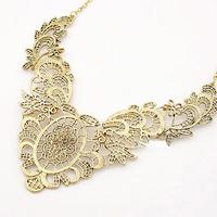 2 pieces/lot New 2014 24K Gold Color antique vintage pendant Design Alloy  hollow necklace for Women  Free Shipping!!