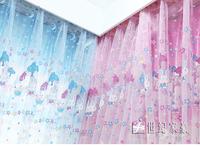 Princess sweet heart Balloon/Rabbit window screening rustic lovely customize curtain yarn Fabric/Finished sheer curtain