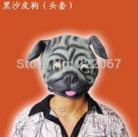 Free Shipping Black-sand skin head set of Halloween show animal mask masked balls show men and women