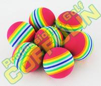 Great Rainbow Golf Balls EVA Soft Sponge Elastic Ball Wholesale Free Shipping