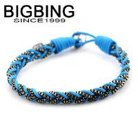 BigBing  jewelry fashion Metal cloth rope winding woven Bracelet fashion jewelry nickel free  HA053