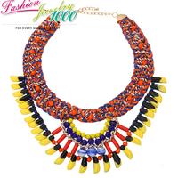 New Vintage Classic Ethnic Muti Strand Flower Collar Bib Necklace Fashion Statement Choker Charm Jewelry Women Party Engagement