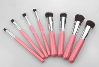 Promotion 8 pcs Pink Synthetic Hair Multifunction Make-up Brush Kit Cosmetic Brushes Set Makeup Tools, Dropshiping