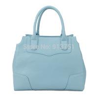 "H036(sky blue) handbags, bag,13 x 5 x 10.5""(L*W*H),PU,Interior Structure:3 small pockets,Free shipping"