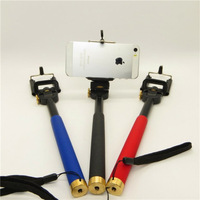 Portable Handheld Self-Timer Monopod for Camera & Phone Telescopic Extendible Stand Selfprotrait Holder for Iphone 4 5 Samsung