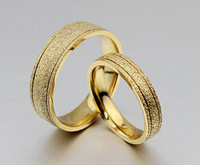 2014 New !  Celebrity  Love Band Titanium Stainless Steel Finger Rings gold plated Wedding