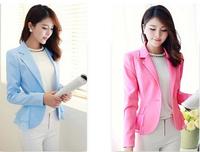 2014 new small suit large pink doll Korean Women Slim lady temperament suit jacket autumn tide