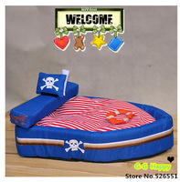 2014 Hot Pirate ship pet house  pet nest  pet supplies  washable  dog mat free shipping+gifts