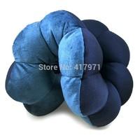 1 pc blue Total Pillow Amazing Versatile Neck Massage Plum Flower Pillow Twist Distorted Travel Versatile Plum Flower Cushion