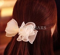 Free Shipping Solid Color Ribbon Tulle Hair Accessories Party Decoration Bows Ribbon 12 Colors [3.5 61-1055]