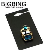 Bigbing jewelry fashion Glass crystal ring top metal ring wedding ring nickel free Free shipping! HA068