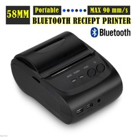 Bluetooth Wireless 58mm Thermal Dot Receipt Printer Android Mobile PC Compatible