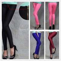 T2315 Solid Four Colors Good Flexible Slim With Zip  Pants Ripped Leggings High Waits Leggings