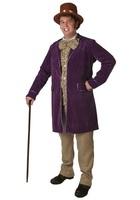 Hot sell 2014 Hallowmas costume COSPLAY costume ball Plush purple CandyMan cloth