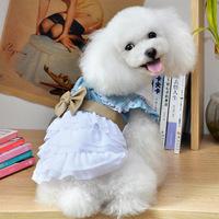 Pet clothes lovely white princess bowknot skirt dog pet clothes CA098 size S/M/L/XL/XXL