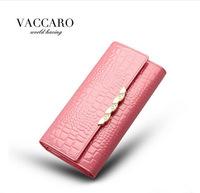 Female Alligator Pattern Women's Wallet New Fashion Women's Long Design Wallet  Brand Genuine Leather Long Wallets For Women